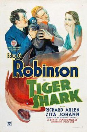 Tiger Shark (film) - 1932 Theatrical Poster