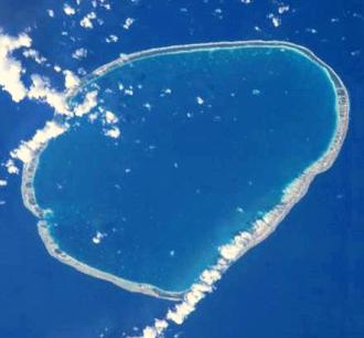 Tikehau - Satellite photograph of Tikehau Atoll.