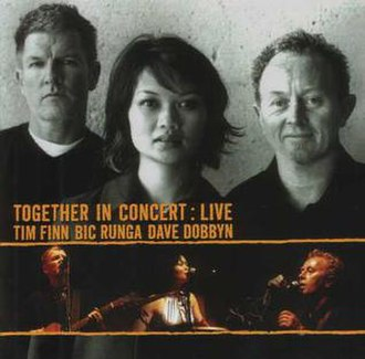 Together in Concert: Live - Image: Tim Finn Bic Runga Dave Dobbyn Live Album Cover
