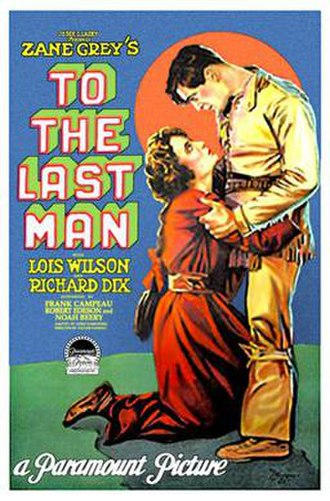To the Last Man (1923 film) - Theatrical poster