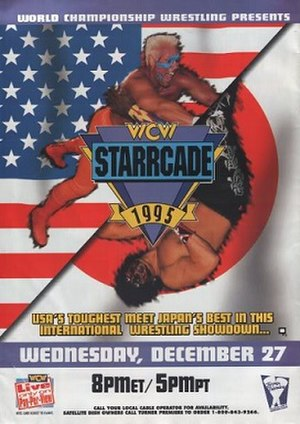 Starrcade (1995) - Official poster, showcasing Sting and The Great Muta (who did not compete on the card).
