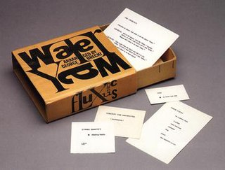 <i>Water Yam</i> (artists book) artists book by George Brecht