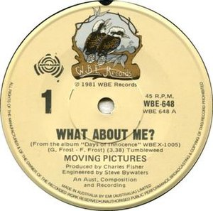 What About Me (Moving Pictures song) - Image: What About Me by Moving Pictures Australian vinyl