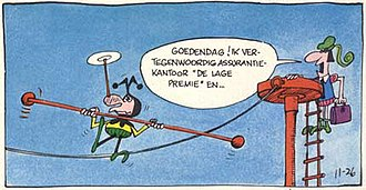 The Wizard of Id - Bung shown in a Dutch-language version of the cartoon.