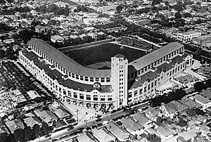 Wrigley Field (Los Angeles) - Image: Wrigley Field Los Angeles Opening Day LOW