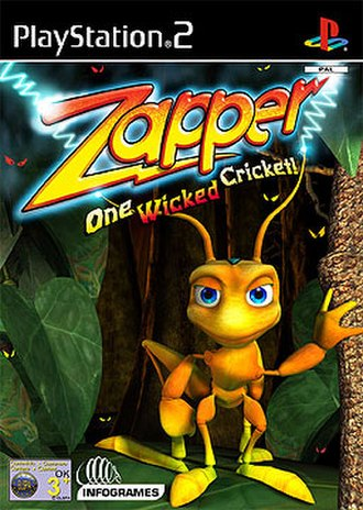 Zapper: One Wicked Cricket - PAL region PS2 cover art