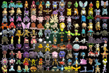 The first 150 pokémon as they appear in pokémon stadium starting