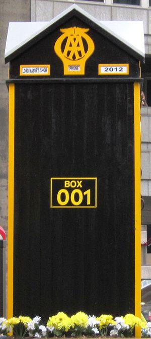 The Automobile Association - AA phone box