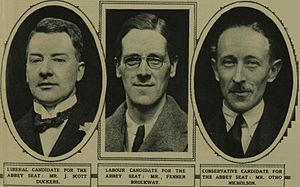 Westminster Abbey by-election, 1924 - Image: Abbey candidates