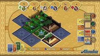 Alhambra (board game) - Xbox 360 version of Alhambra.