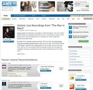 Amie Street - Amie Street homepage