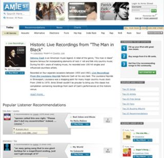Amie Street Online music store from 2006-2010