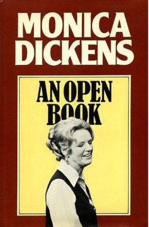 Monica Dickens - The cover of An Open Book, Dickens' 1978 autobiography