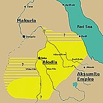Estimated extent of Alodia in the 10th century