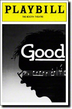 Good (play) - Original playbill for the 1982 Broadway production