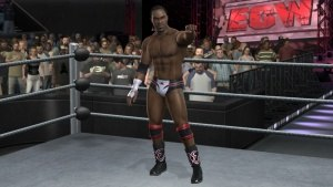 WWE SmackDown vs. Raw 2008 - Elijah Burke making his ring entrance.