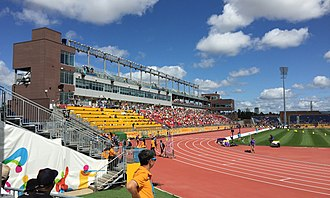 York Lions Stadium - Image: CIBC Pan Am and Parapan Am Athletics Stadium south stands