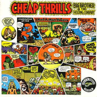 Robert Crumb - Crumb cover artwork for the 1968 Big Brother and the Holding Company album Cheap Thrills.