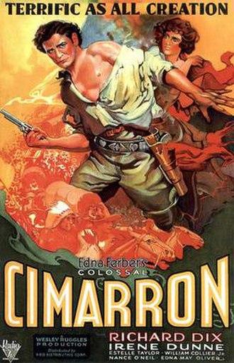 Cimarron (1931 film) - theatrical release poster