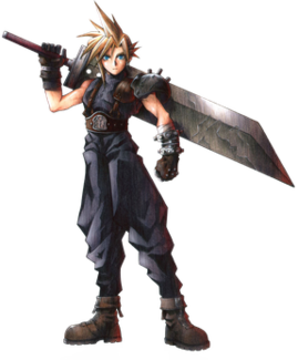 Cloud Strife protagonist in Final Fantasy VII