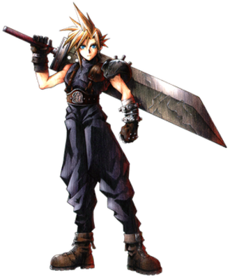 Cloud Strife - Cloud Strife artwork by Tetsuya Nomura for Final Fantasy VII