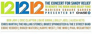 12-12-12: The Concert for Sandy Relief - Image: Concertforsandy