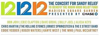 12-12-12: The Concert for Sandy Relief - Image: Concertforsandy