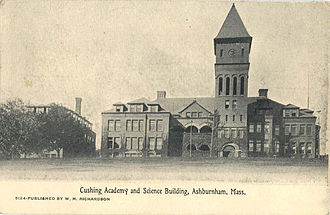 Cushing Academy - Cushing Academy and Science Building, c. 1908.