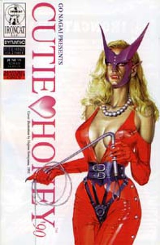 Cutie Honey - Cover of Part 1 of Volume 2 of Cutie Honey '90, showing major villain Sister Jill holding a whip.