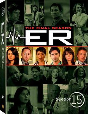 ER (season 15) - Image: DVD Season 15 Cover