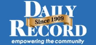 Daily Record (Washington) - Image: Daily Record logo (with slogan)