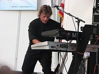 Felix Hanemann - Felix Hanemann performing on keyboards at the Long Island Maritime Festival on August 26, 2007.