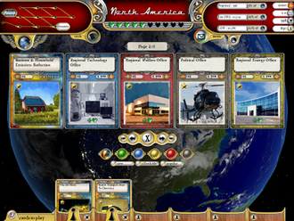Serious game - An in-game screenshot from Fate of the World, a global warming game