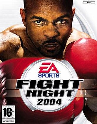 Fight Night 2004 - Cover art, featuring boxer Roy Jones Jr