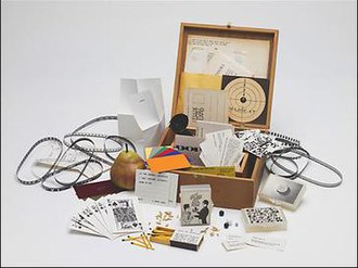 Fluxus - Flux Year Box 2, c.1967, a Flux box edited and produced by George Maciunas, containing works by many early Fluxus artists