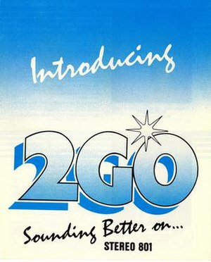 107.7 2GO - Former 2GO logo at 801 AM