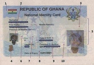 Ghana Card - Image: Ghana Card biometric