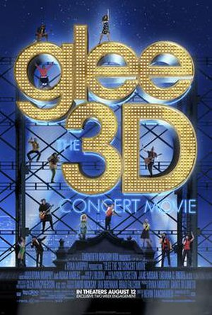 Glee: The 3D Concert Movie - Theatrical release poster