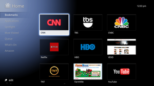 Google TV - Image: Google TV Screenshot