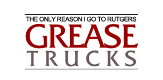 Grease trucks - A parody of the pre-2007 official Rutgers logo.