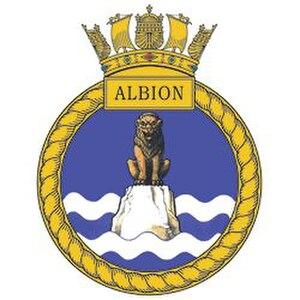 HMS Albion (L14) - Image: HMS Albion badge