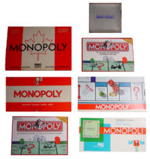 Raise funds for your charity Monopoly Fundraising Play Card 36 spaces