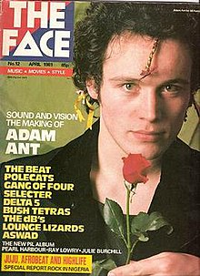 A cover of *The Face*, featuring Adam Ant.