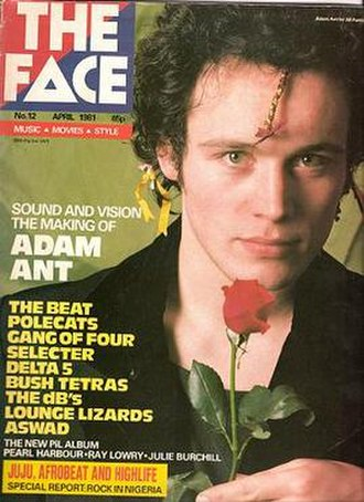 The Face (magazine) - Cover featuring Adam Ant