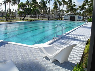 Kwajalein Atoll - The Adult Pool on Kwajalein is drained and re-filled once a week with salt water from the ocean.