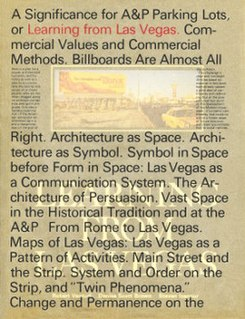 <i>Learning from Las Vegas</i> postmodernist architecture book
