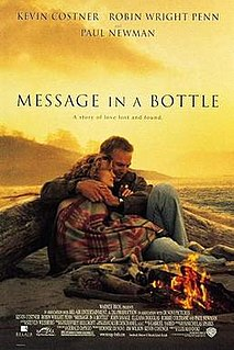 <i>Message in a Bottle</i> (film) 1999 American romantic drama Warner Bros.film directed by Luis Mandoki