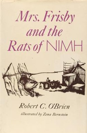 Mrs. Frisby and the Rats of NIMH - First edition cover with Bernstein artwork