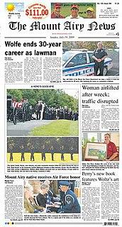 <i>The Mount Airy News</i>