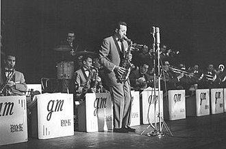 Lenny Hambro - The New Glenn Miller Orchestra, circa 1961, with Lenny on alto sax.